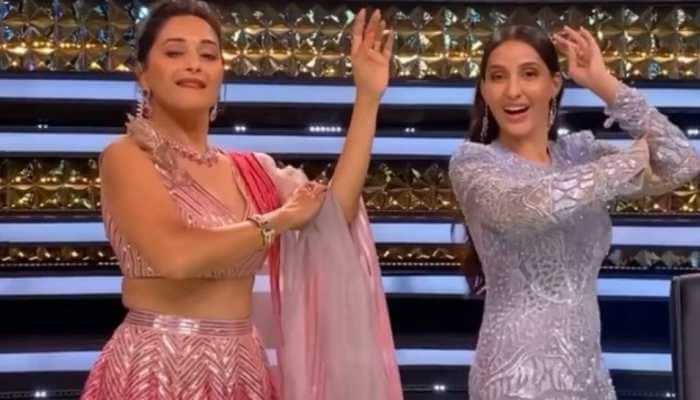 Nora Fatehi and Madhuri Dixit's epic dance face-off on Dilbar song goes viral - Watch