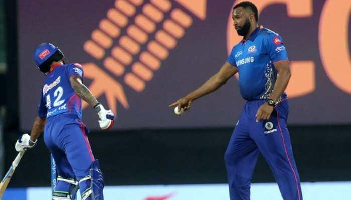 IPL 2021: Kieron Pollard almost does a R Ashwin, gives 'mankaded' warning to Shikhar Dhawan