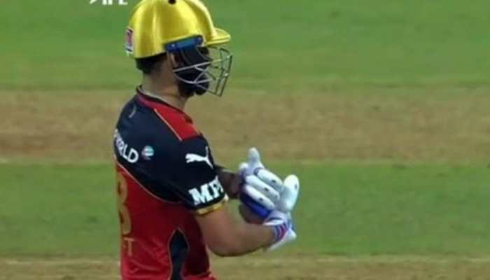 IPL 2021: Virat Kohli's 'baby celebration' for daughter Vamika go viral after completing fifty against Rajasthan Royals, see pics