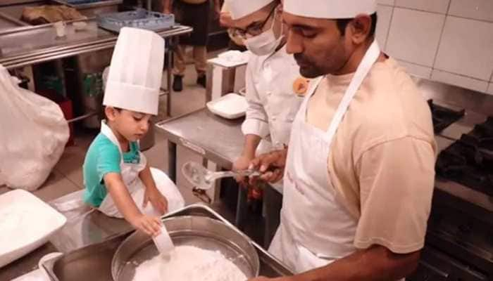 IPL 2021: Uthappa Jr. helps father Robin in baking cookies for CSK teammates - WATCH