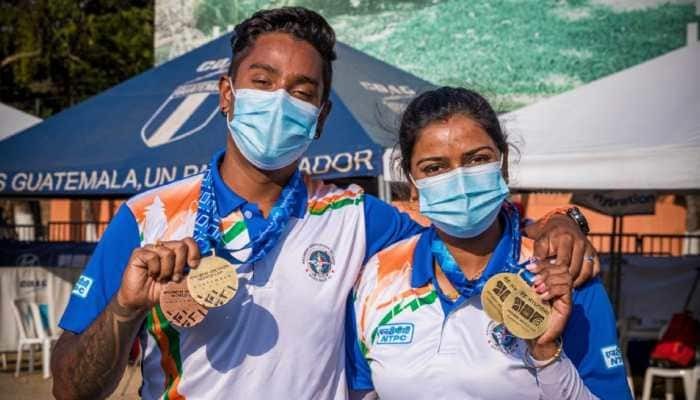 Archer couple of Deepika Kumari and Atanu Das shoot triple gold as India finish with four medals