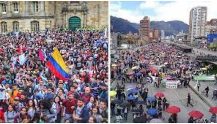 Thousands of Colombians take it to streets to protest against tax proposals
