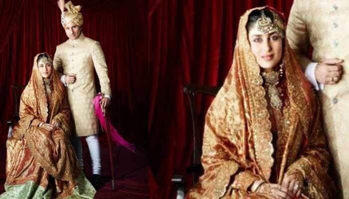 Kareena Kapoor and Saif Ali Khan's unseen royal wedding photo goes viral, actress wore mom-in-law Sharmila Tagore's bridal lehenga!