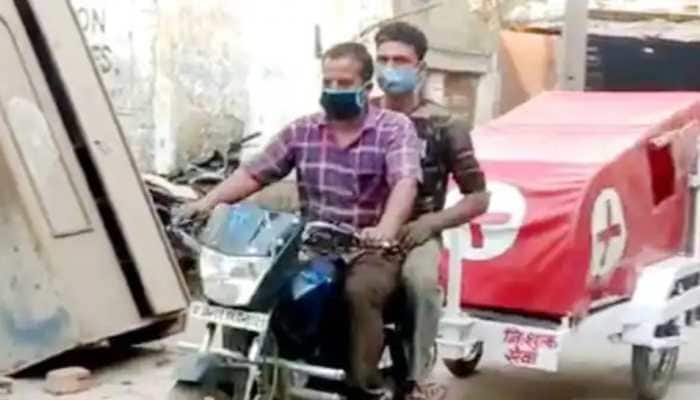 MP Engineer attaches hospital bed, oxygen cylinder to his bike, creates 'Jugaad Ambulance' to help community