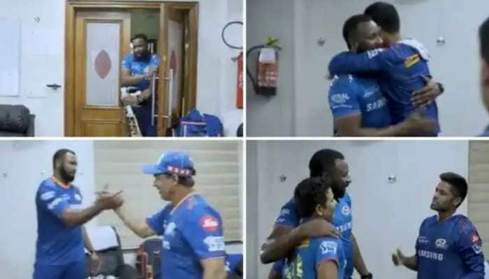 IPL 2021 MI vs CSK: Pollard gets grand welcome in MI dressing room after his superman innings, video goes viral - WATCH