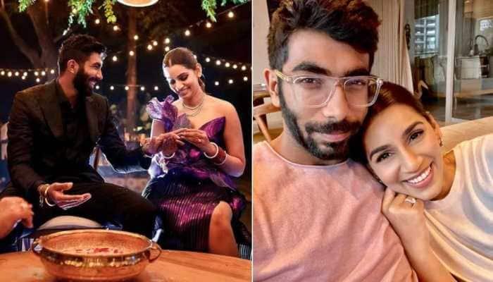 IPL 2021 suspended: Sanjana Ganesan reunites with husband Jasprit Bumrah at home, shares adorable picture