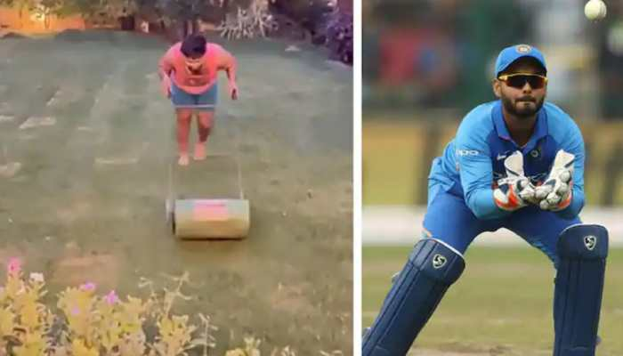 COVID-19: Team India wicketkeeper-batsman Rishabh Pant finds a unique way to stay fit indoors - WATCH