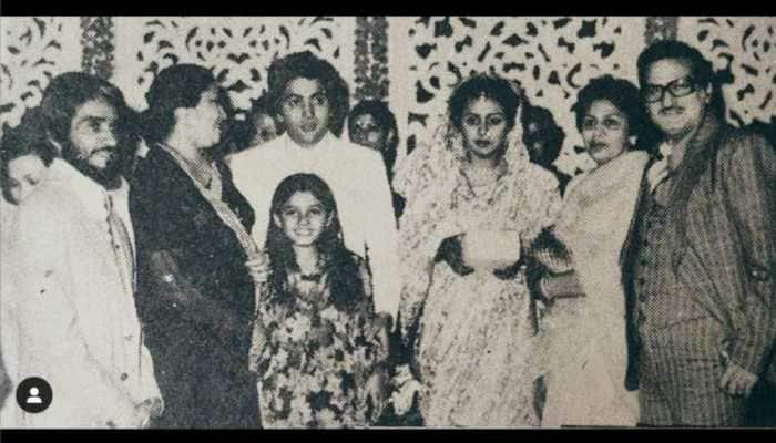 Raveena Tandon shares throwback picture of Rishi Kapoor, Neetu Kapoor from their wedding day