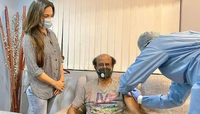 Megastar Rajinikanth takes second dose of COVID vaccine jab, daughter shares pic!