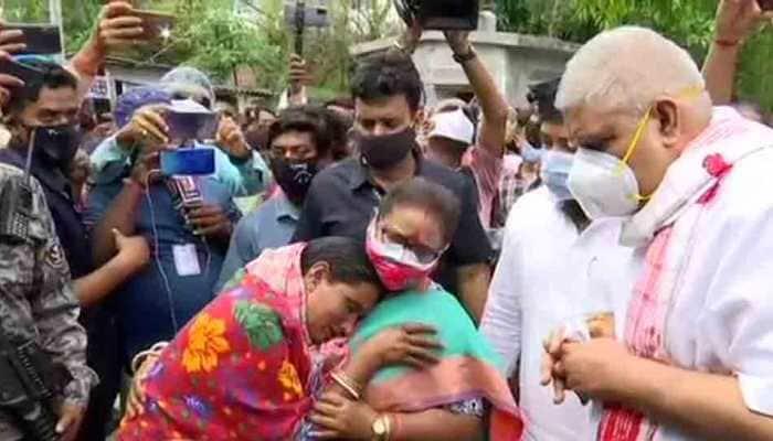 Mob shows black flags, block path of West Bengal Governor Jagdeep Dhankhar during Coochbehar visit