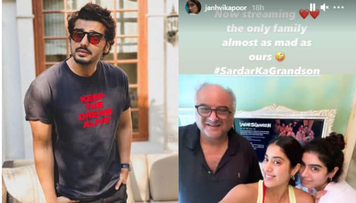 Janhvi Kapoor watches Arjun Kapoor's Sardar Ka Grandson, calls it 'the only family almost as mad as ours'