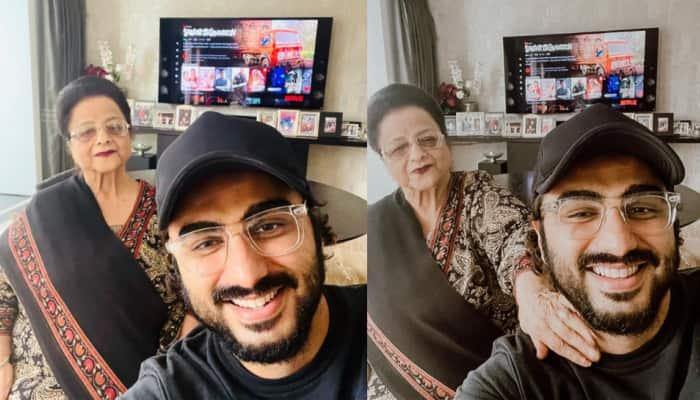 Arjun Kapoor watches 'Sardar Ka Grandson' with his grandmother who calls the film 'khoobsurat'