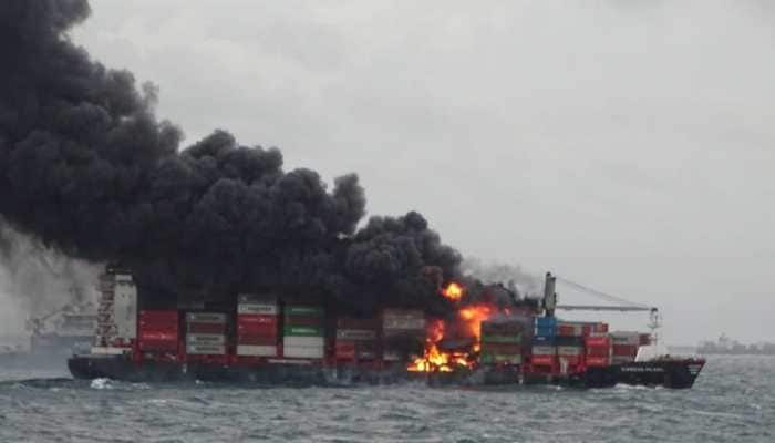 Colombo ship fire appears under control, no oil spill: Indian Coast Guard
