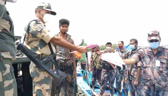 BSF's goodwill gesture: Bangladeshi nationals, who entered Indian territory during Cyclone Yaas, sent back