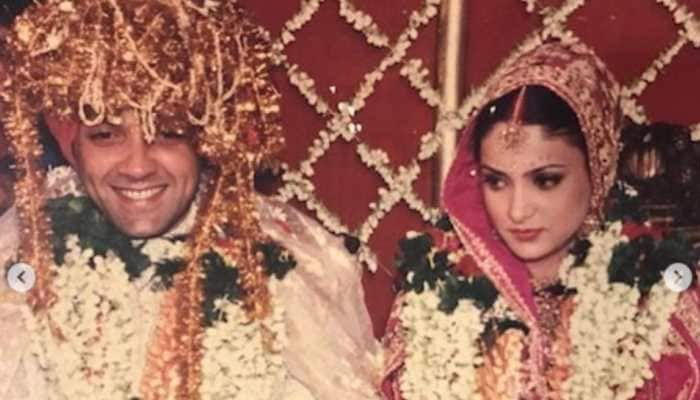 Bobby Deol wishes wife Tanya on their 25th wedding anniversary, shares throwback pictures!