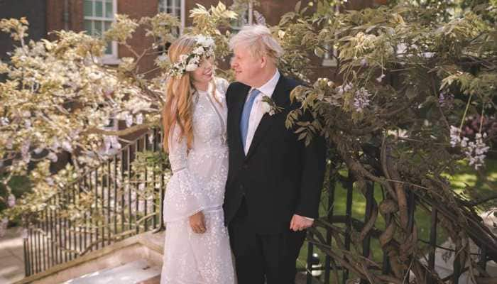 UK PM Boris Johnson's first marriage photo with fiancee Carrie Symonds out