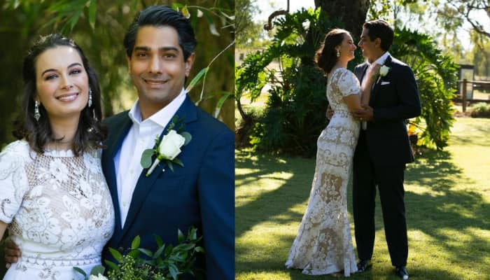 Evelyn Sharma gets hitched in a fairytale white wedding to Tushaan Bhindi in stunning Australian countryside - check pics!