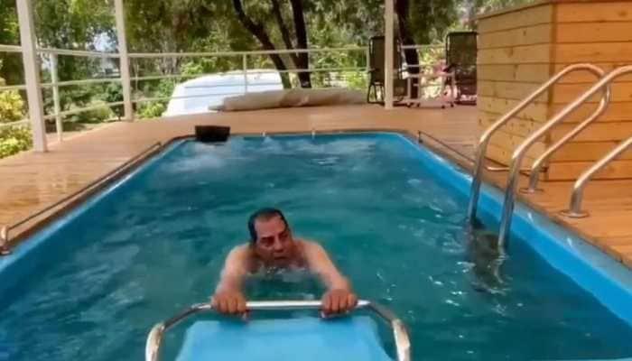 Dharmendra takes to water aerobics, yoga and light exercise