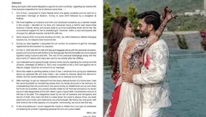 We lived together as husband and wife: TMC MP Nusrat Jahan's estranged husband Nikhil Jain on marital discord