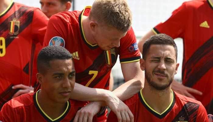 Belgium players in training (Source: Twitter)