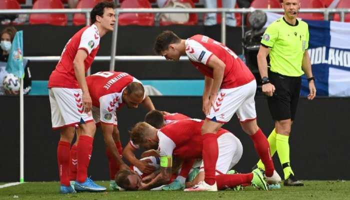 Denmark's Christian Eriksen collapses during Euro 2020 game
