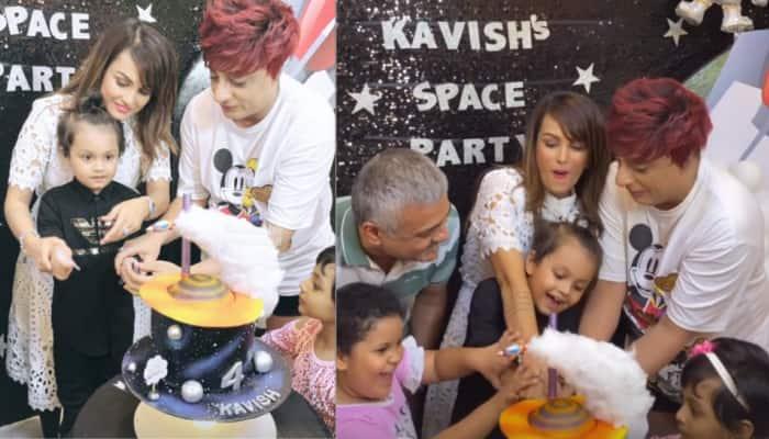 Nisha Rawal throws birthday bash for son Kavish, estranged husband Karan Mehra missing from pics!