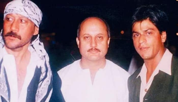 Anupam Kher shares an old photo with Shah Rukh Khan and Jackie Shroff, actor Tiger Shroff reacts!