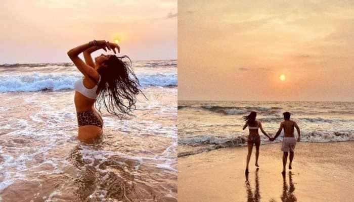 Janhvi Kapoor slays in a leopard print bikini, poses with a mystery friend - See Pics!