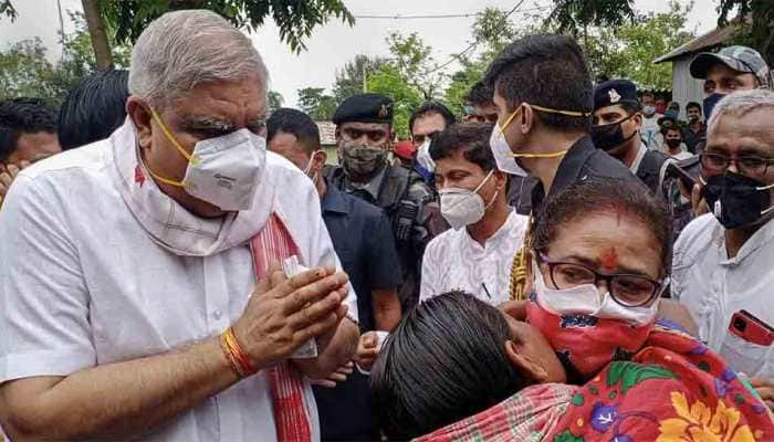 Bengal Governor Jagdeep Dhankhar arrives in Darjeeling on 7-day visit, shown black flags by Trinamool Congress workers