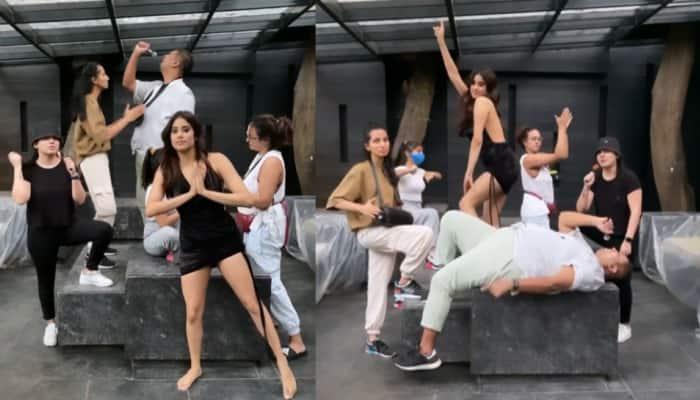 Janhvi Kapoor's hilarious dance video twerking with her gang goes viral, Arjun Kapoor reacts - Watch!