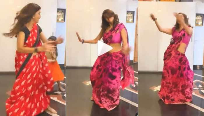 Viral video: South sensation Lakshmi Manchu's mad dance to Thalapathy Vijay's Vaathi Coming in a saree is high on energy! - Watch