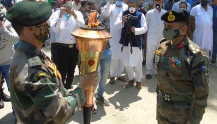 Flame symbolic of 50 years of India's 1971 war victory over Pakistan reaches J&K's Baramulla