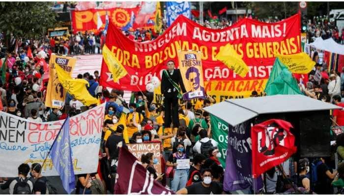 Thousands in brazil protest against President Jair Bolsonaro over COVID-19 pandemic handling