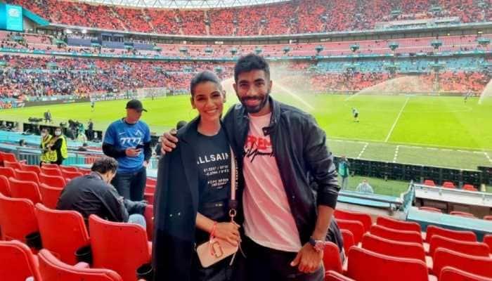 'Mask laga ke rakho bhabhi': Netizens react as Jasprit Bumrah and wife Sanjana attend Euro 2020 semis in London