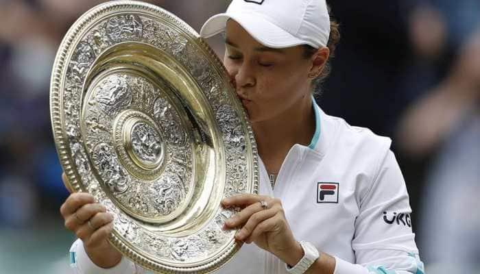Wimbledon 2021: Ashleigh Barty battles past Karolina Pliskova to clinch title