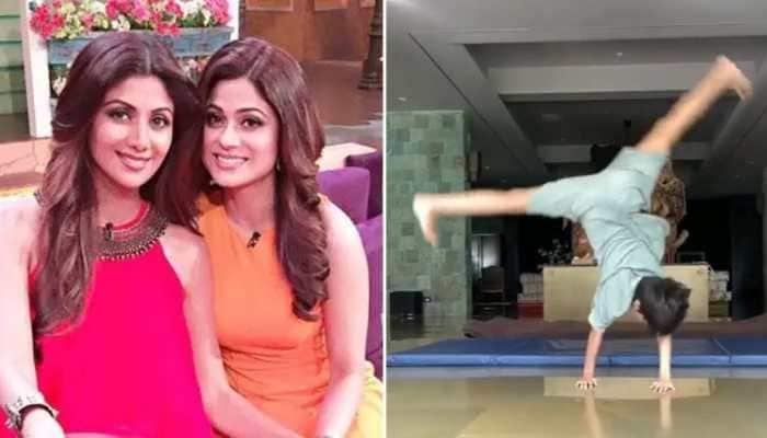Shilpa Shetty's son Viaan's workout video inspires Shamita Shetty - Watch!