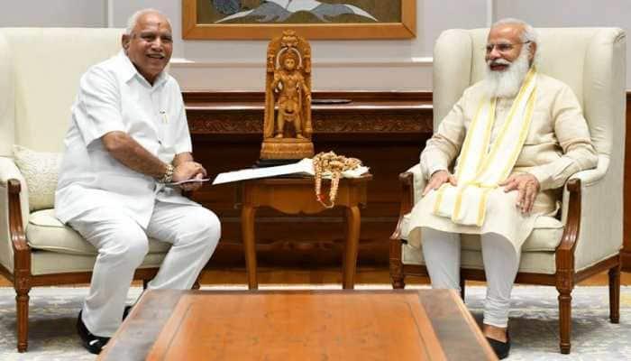 Karnataka CM Yediyurappa meets PM Modi, discusses several development works