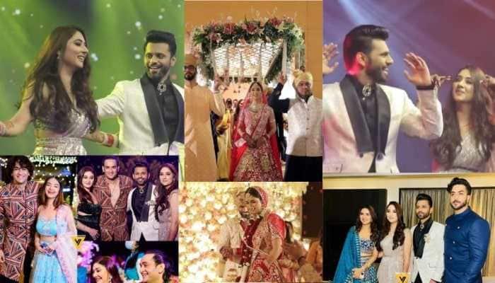 Rahul Vaidya-Disha Parmar wedding: Watch inside viral videos of Aly Goni-Jasmin Bhasin's grand entry to Shweta Tiwari-Arjun Bijlani's dance!