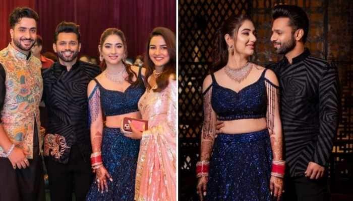 Inside pics from Rahul Vaidya-Disha Parmar's star-studded post-wedding sangeet celebration!