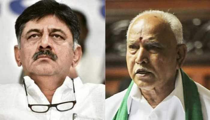 'Let Yediyurappa reveal who was responsible for his tears,' says K'taka Cong President DK Shivakumar