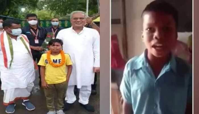 Popular 'Bachpan Ka Pyaar' singer Sahadev felicitated by Chhattisgarh CM Bhupesh Baghel - Watch