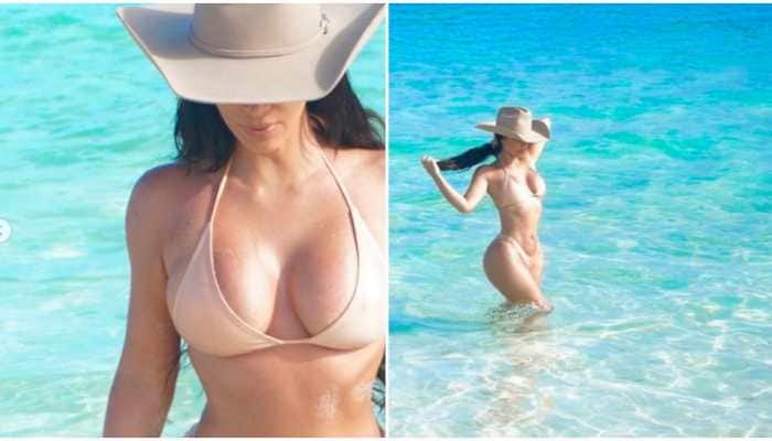 Kim Kardashian has posted some amazing pictures from her beach time