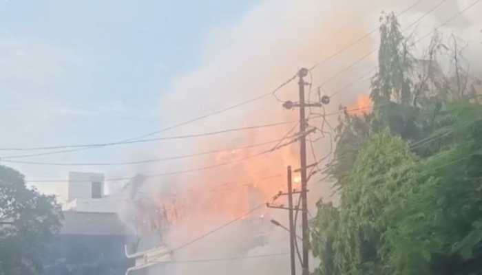 Massive fire breaks out at firecracker shop in Gujarat's Anand