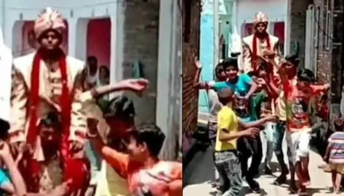 Gaon Ka Dulha! Groom got no ghoda or gaadi for the wedding - Watch viral video