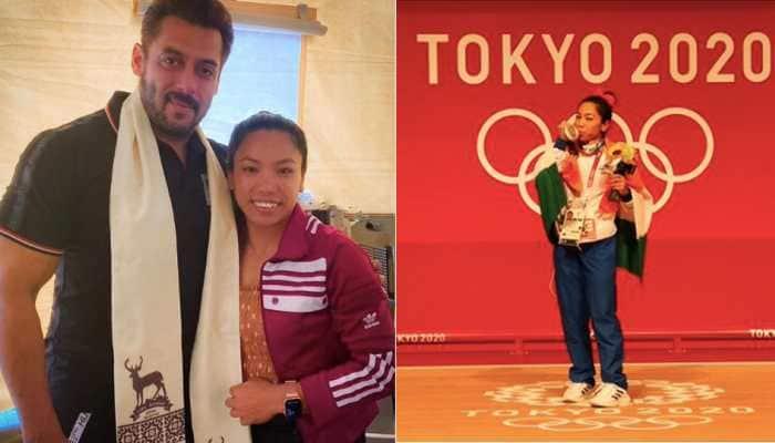 Salman Khan meets Olympian Mirabai Chanu, gives her best wishes