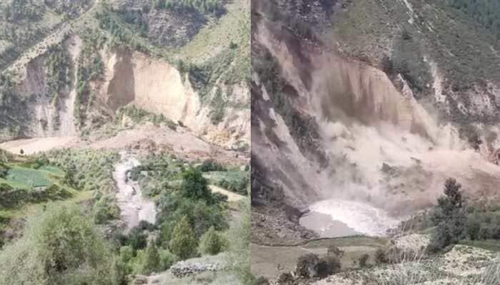 After Kinnaur, Himachal Pradesh sees another massive landslide, flow of Chenab river blocked- Watch