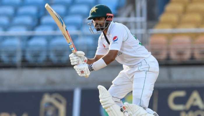WI vs PAK 1st Test: Babar Azam's unbeaten fifty helps Pakistan recover vs West Indies