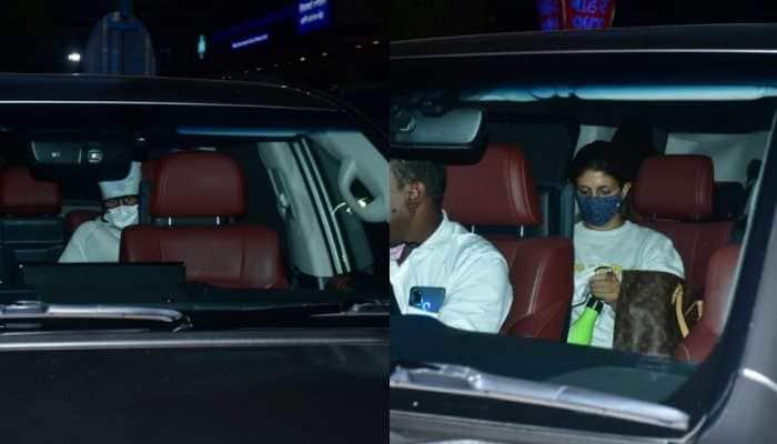 Amitabh Bachchan, daughter Shweta Bachchan visit Lilavati hospital late night - In Pics