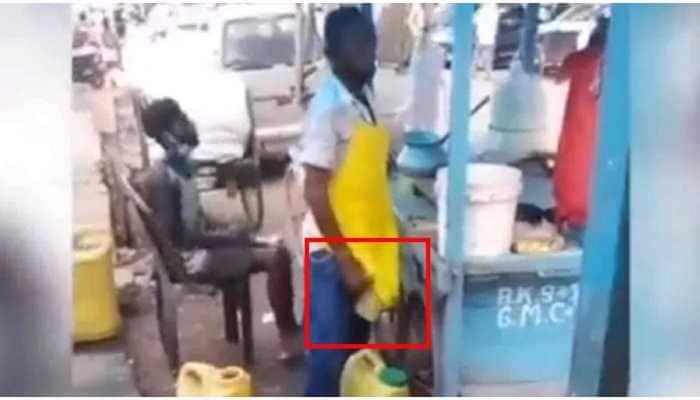 Video: Street vendor caught mixing urine in panipuri masala water, watch viral clip