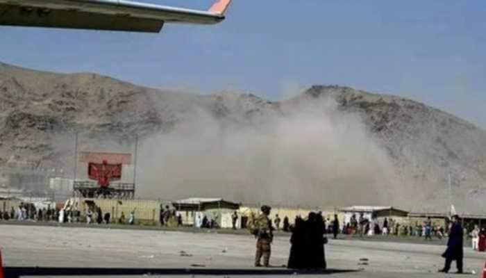 Smoke from bomb st Kabul airport